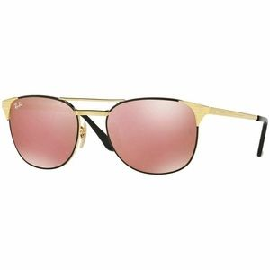 Ray-Ban Square Style Sunglasses W/Black/Gold Lens